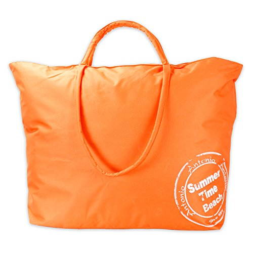 XXL Strand,- und Badetasche Modell BeachTime abwaschbar mit Langem Schulterriemen in 6 Farben (orange)