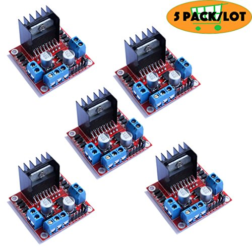 morismoon 5 Stück/lot New Dual H Bridge DC Stepper Motor Drive Controller Board Modul L298 N Motor Driver - Dual Voltage Motor
