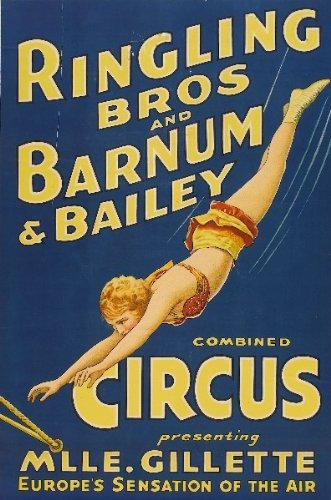 CLASSIC POSTERS Barnum and Bailey Circus Reproduktion Foto Poster 40x30 cm -