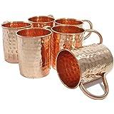 Vasos Accesorios de cobre martillado Moscow Mule Taza, Juego de 6 tazas