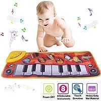 Musikmatte Klaviermatte Spielmatte elektronischer Spielteppich Musikteppich Keyboardteppich Kinder Klavier Matte Keyboard Musik Teppich mit 24 Tasten//8 Instrumenten Blitzzauber 24