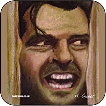 """""""Jack Torrance–aquí de Johnny de Stephen Kings El resplandor–Original Película temática obras de arte Vertical por Kev guyler–Posavasos, diseño de coasteroo"""