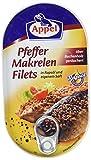 Appel Pfeffer-Makrelenfilets, zarte Fisch-Filets in wertvollem Rapsöl und eigenem Saft, MSC zertifiziert, 190 g