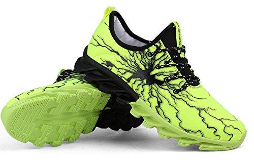 NSPX Scarpe da ginnastica di moda di Lightning Pattern di modo delle scarpe da tennis Scarpe da portare traspiranti di grande formato Scarpe sportive di grandi dimensioni , 41 YZ5GREEN-42