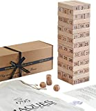 Jaques of London 2 IN 1 - PLAY and LEARN - ULTIMATE Tumble Tower - Classic Wooden Game - Our Games Blocks Build UPTO 1ft Tall During Play Trusted Toys and Games Since 1795
