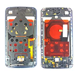 Original Motorola Google Nexus 6 Rahmen (mittlere Platte) blau