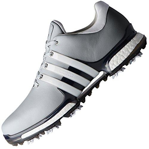 adidas Herren Tour 360 Boost 2.0 Golfschuhe, versilbert (Plata/weiß F33793), 42 2/3 EU