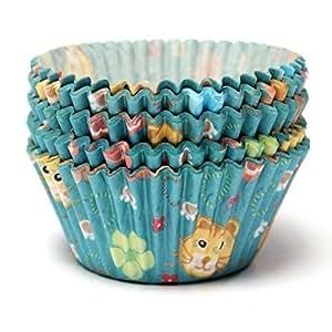 KING DO WAY Lot De 100 Pcs Bleu Chat Caissettes Papier Muffins Moule Gâteau Pâtisserie Décor Cupcake Wrapper