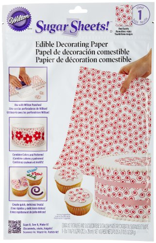 Wilton Zuckerpapier Red Swirls -
