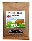 LLS Primal Beef Jerky | 100% Gras Gefüttert Britisches Rindfleisch Snack | Hoch in Protein | Keine MSG Nein Gluten ohne Zuckerzusatz | Paleo genehmigt | 1 x 50g Tasche | Ursprünglichen Geschmack | Love Life Supplements -