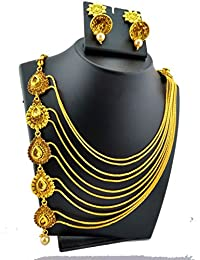 Trendest Fashion Jewellery Gold Plated Multi-Strand Necklace Set For Women