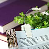 #4: Di Grazia Solar Clip on Book Light, Bright LED Reading Light USB Rechargeable and Solar Powered,2 Brightness Settings Portable Flexible Neck (White)