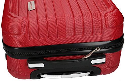 51z345oAp1L - 3 Maletas rígidas PIERRE CARDIN rojo 4 ruedas cabina para viajes VS213
