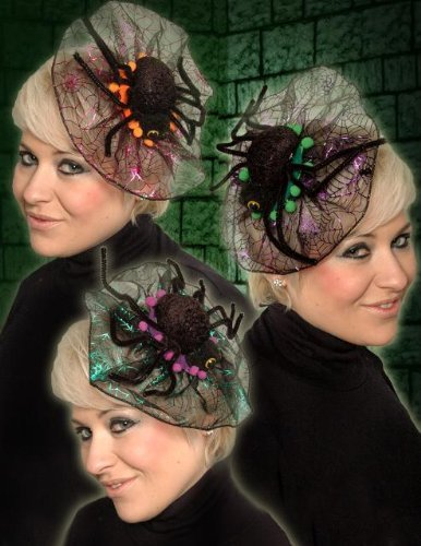 Spider Hair Clip In Fascinator - Fancy Dress Halloween Dressing Up Costume by Scream (Spider Girl Mask)