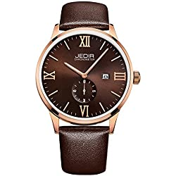 YPS Men Roma Number Nail Shape Scale Quartz Movement Small Second Dial Calendar Fashion Casual Watch WTH5377