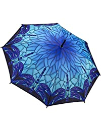 Galleria Tiffany lámpara libélula azul paraguas–Stick