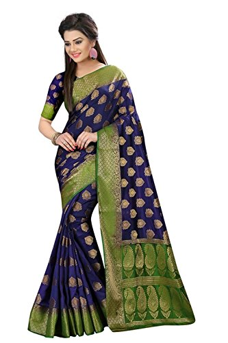 Traditional Fashion Women's Art Silk Saree With Blouse Piece (Tfs706_Ts Sarees_Navy Blue)
