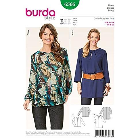 Burda, 6566, Cartamodello,Camicia, Taglia