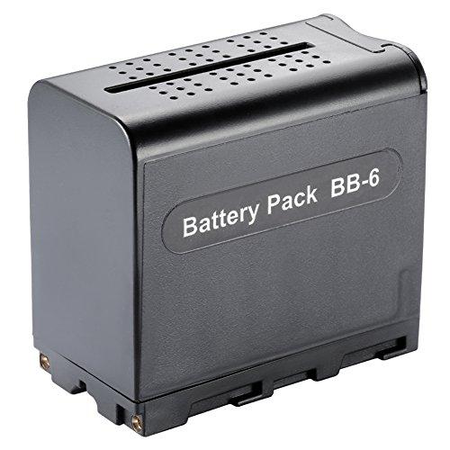 Neewer® 6 Stück AA-Batterie-Satz-Fall Ersatz-Netz als NP-F970 F550 für Neewer 308C, TTV-204 Pad-22 & Andere LED-Videoleuchte oder Moniter Backup Battery Led-batterie-backup
