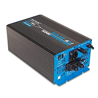 ECTIVE SSI-Serie | Sinus Wechselrichter 1500W mit Ladegerät, MPPT-Solarladeregler und NVS | 12V auf 230V | 5 Varianten: 1000W - 3000W | Reiner 12 Volt Spannungswandler DC zu AC Solar Batterie Inverter 12 V