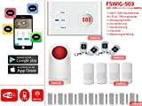 FSWIG 868Mhz Funk Alarmanlage WIFI / GSM für iOS & Android. App Steuerung und einfache Selbstmontage (C)