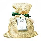 Sale da bagno all'Argilla verde e Alghe (1500 g) in un sacchetto di iuta con una paletta di legno. Confezione unica! Snellente e...