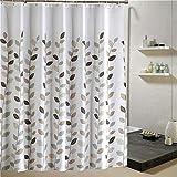 JYJSYM Shower Curtain, small Leaves/Thick/Waterproof/Mildew/Polyester/Printing/Weight Lead Plumb/Bathroom/Bathtub/Shower/Curtain/Bath Account 240x200cm,Small Leaves,220x200cm