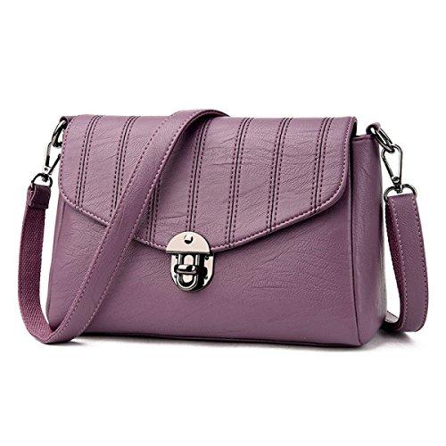 Madre Di Mezza Età Moda Donna Selvatica Spalla Messenger Bag Femmina Purple