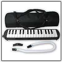 Tuyama® TMD-132 Melodica (32 teclas) negro Con boquilla y manguera de soplado, Incluye una bolsa para transporte
