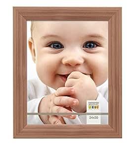 Deknudt Frames S53GH3 Cadre Photo Châtaigner Bois Brun 24 x 30 cm