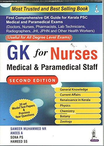 GK FOR NURSES MEDICAL & PARAMEDICAL STAFF
