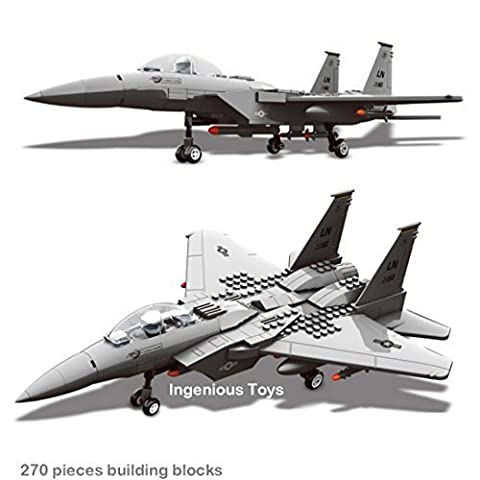 F15 Military Fighter Jet Building Model / army war battle tank plane ship #JX005
