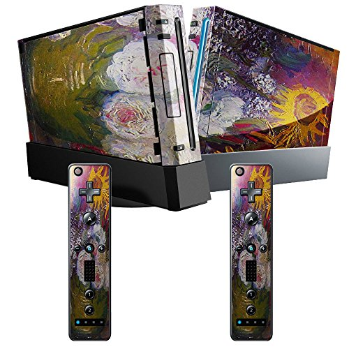 Preisvergleich Produktbild Van Gogh - Still-Life With Roses And Sunflowers,  Designfolie Sticker Skin Aufkleber Schutzfolie mit Farbenfrohem Design für Nintendo Wii