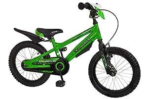"Bachtenkirch Kinderfahrrad 16"" Kawasaki Krunch grün-schwarz RH 40,6 cm"