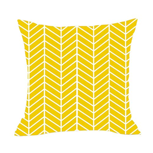 OPAKY 2019 Neue geometrische Leinen Kissenbezug Sofa Wurfkissen Set Home Decoration