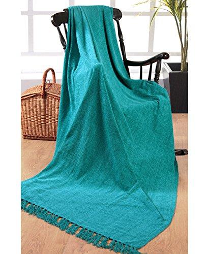 Elite Home Collection - Colcha para sofá o cama de matrimonio (150 x 200cm, 100% poliéster indio), color verde