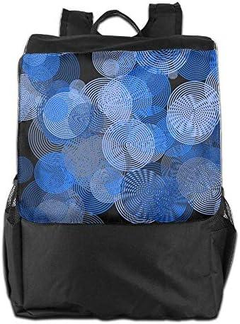 Unisex Aract verdeigo Circle Print Custom Custom Custom Casual School Bag Backpack Multipurpose Travel ypack | Bella Ed Affascinante Della  | Vari I Tipi E Gli Stili  | Materiali Di Alta Qualità  9149e6