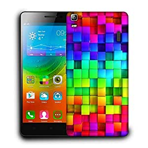 Snoogg Colorful Blocks Designer Protective Back Case Cover For LENOVO A7000 / K3 NOTE
