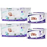 Himalaya Gentle Baby Wipes 72x2 And Soothing Baby Wipes 12x2