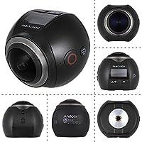 Andoer V1 Panorámica Cámara de 360 Grados Wifi 2448P 30FPS 16M Ojo de Pez Fuente de Película para Gafas Virtuales VR Cámara de Deportes Videocámara Actividades al Aire Libre Coche DVR