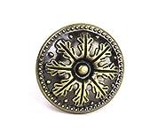 #8: Generic 1 x Classical Round Cabinet Drawer Door Pull Handle Knob Antique Bronze