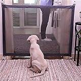 RUIXIB - Recinzione Retrattile per Cani e Gatti, Pieghevole, Portatile, Protezione sicura per Porta, Scale, griglia di Sicurezza in Rete per Animali Domestici (180 x 72 cm)