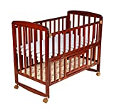 #4: Luvlap C-50M Baby Multipurpose Wooden Cot with Mattress - Large (Cherry Red)
