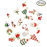 uhoMEy 19x Weihnachtliche Schmuck-Anhänger, Set für Halsketten