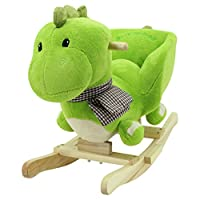 Sweety Toys 6731 GRISU rocking horse dragon dinosaur with sounds