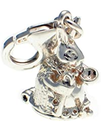 Welded Bliss Sterling 925 Silver 2 Part Octopus and Starfish Clip Charm WBC1454