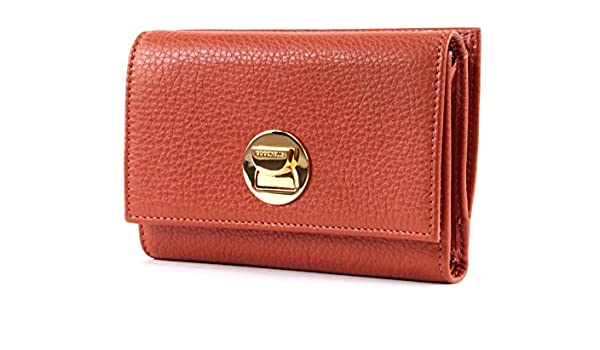 COCCINELLE Liya Flap Wallet Geldbörse Calendula Orange Braun Neu