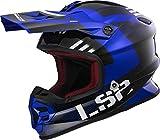 LS2 Helm Motorrad MX456Light Rallie, blau/schwarz, L