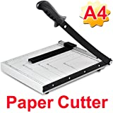 Popamazing Professional Heavy Duty A4 High Quality Paper Cutter Guillotine Metal Based Trimmer