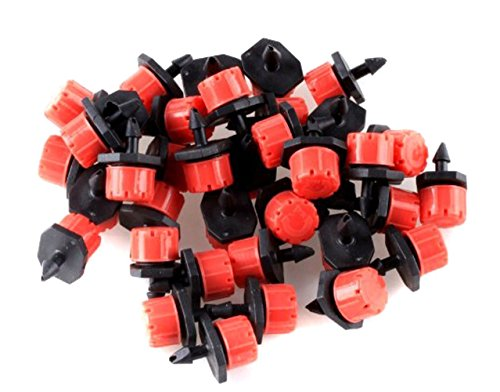 100Pcs Kunststoff verstellbar Micro Tropfbewässerung Bewässerung Werkzeug anti-clogging Emitter Tropfer